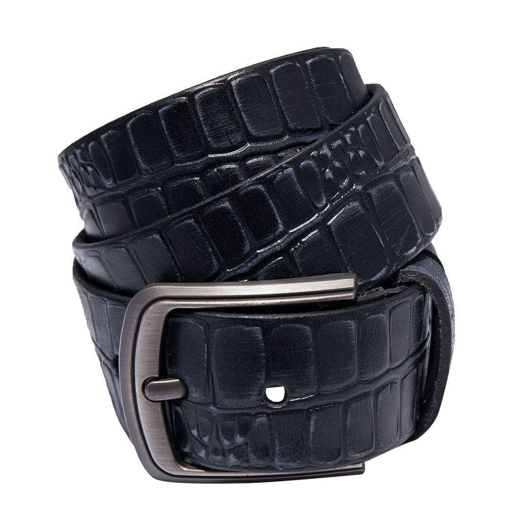 Синий мужской кожаный ремень от бренда SG Empire SGEmpire