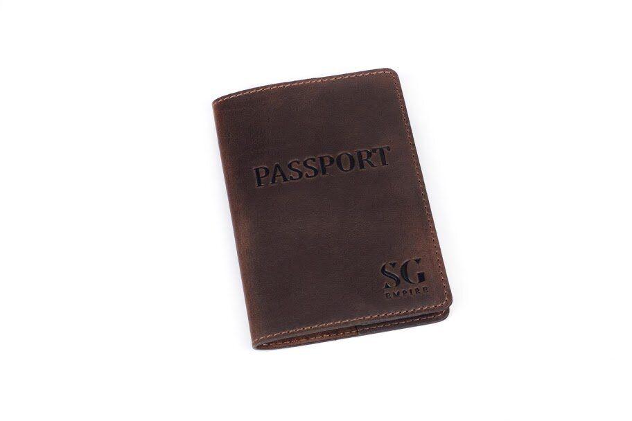 Обложка с натуральной кожи для паспорта от бренда SG Empire SGEmpire