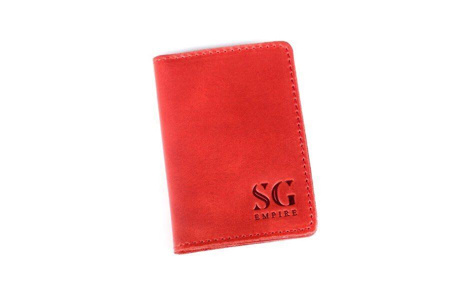 Обложка с натуральной кожи для ID паспорта от бренда SG Empire SGEmpire